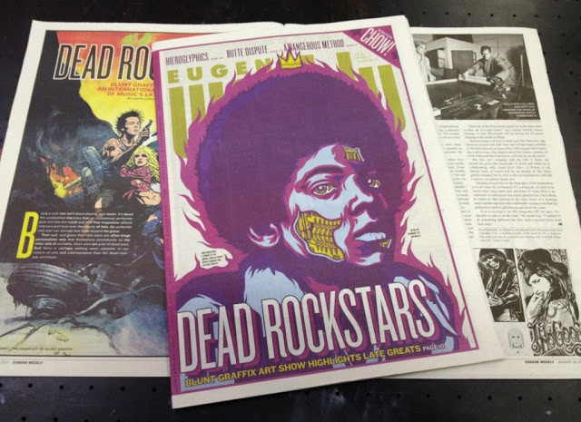 "A Group Show ""DEAD ROCKSTARS"" Coverage"