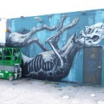 Roa, The Date Farmers, Gaia New Murals In Progress, Miami