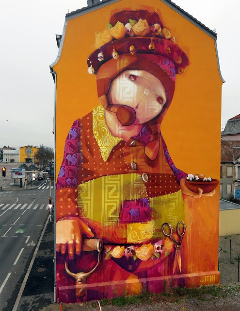 INTI paints a new mural on the streets of Mulhouse in France
