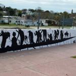 """Low Tide"", a new mural by David De La Mano in Montevideo, Uruguay"
