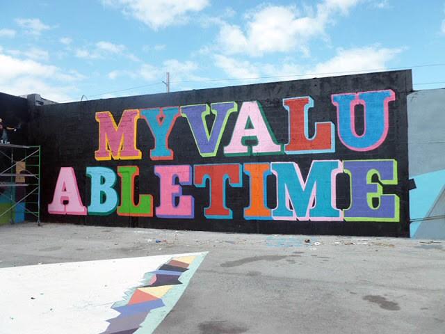 Ben Eine New Mural In Miami
