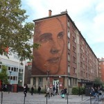 A giant portrait by Jorge Rodriguez Gerada in Paris 13th, France