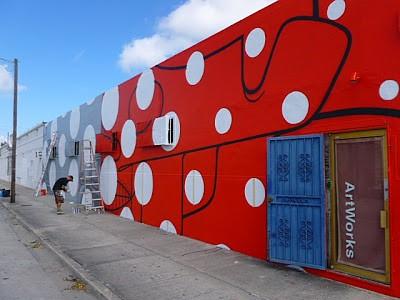 How & Nosm New Mural In Progress, Miami