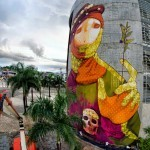 INTI creates a new mural in Cali, Colombia