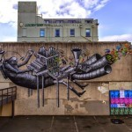 Phlegm creates a massive new mural in Dunedin, New Zealand