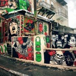 Broken Fingaz creates a new mural in Haifa, Israel