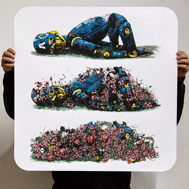 """Pixel Pancho """"Decomposition"""" Limited Edition Screen Print"""