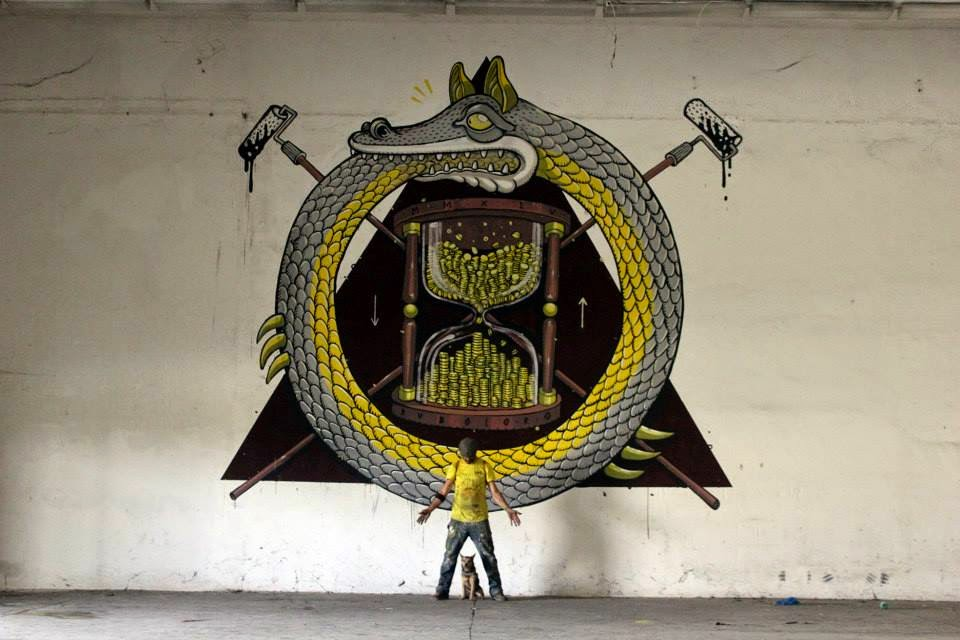 "Mr Thoms creates ""Ruboloro"", a new indoor piece in Ferentino, Italy"