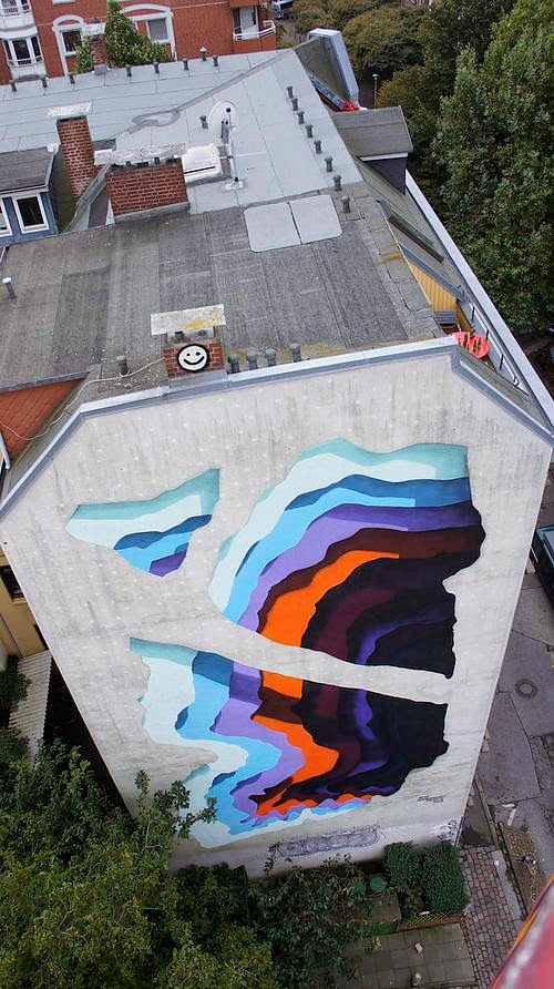 1010 creates an impressive mural for Knotenpunkt Festival in Hamburg, Germany