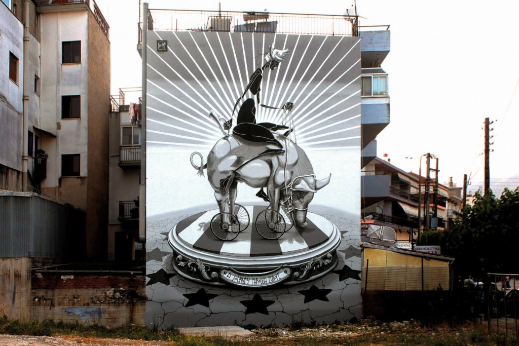 "Dome ""A Journey Through Europe"" New Mural – Ioannina, Greece"