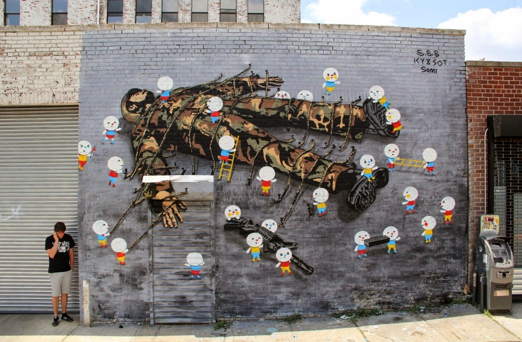 "Icy & Sot x Sonni ""Gulliver"" New Mural – New York City"