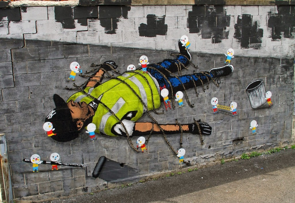 "Icy & Sot x Sonni ""Gulliver 2.0"" New Mural – New York City"