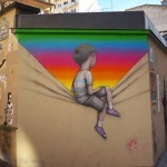Seth Globepainter paints a new street piece in Paris, France