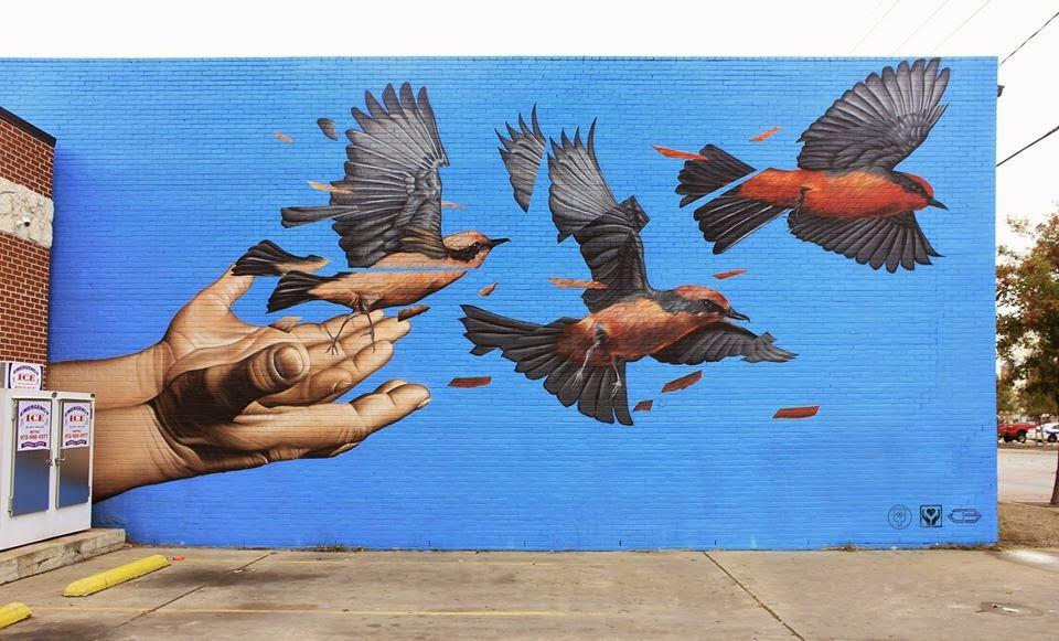 James Bullough creates a new mural in Dallas, USA