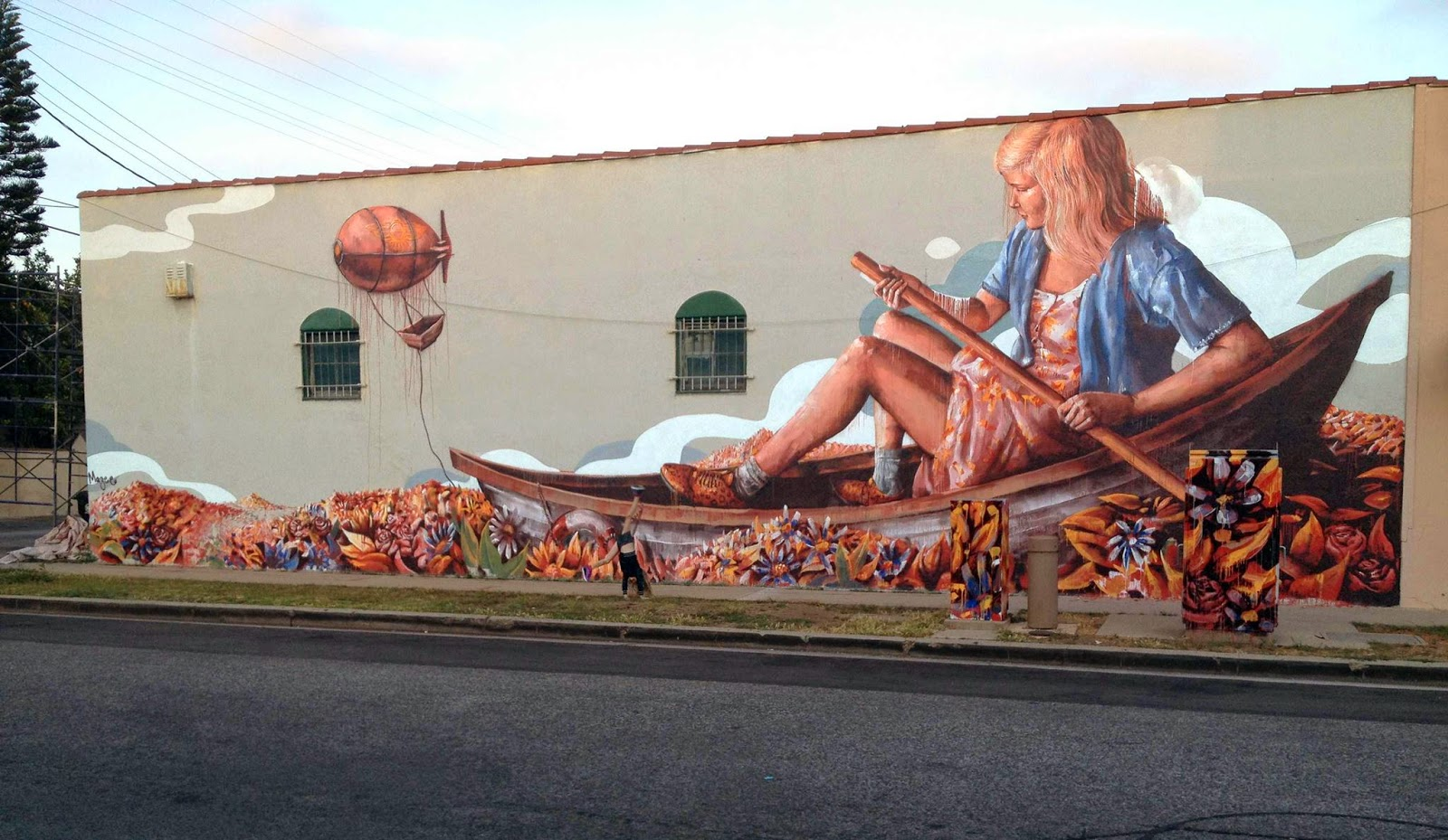 Fintan magee the zeppelin new mural culver city los for Call for mural artists 2014