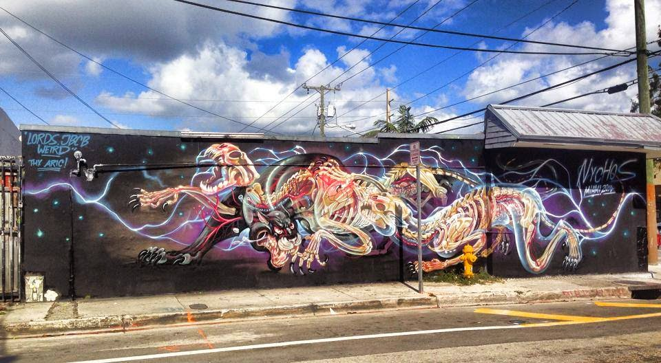 Art Basel '14: NYCHOS paints a series of new pieces in Miami