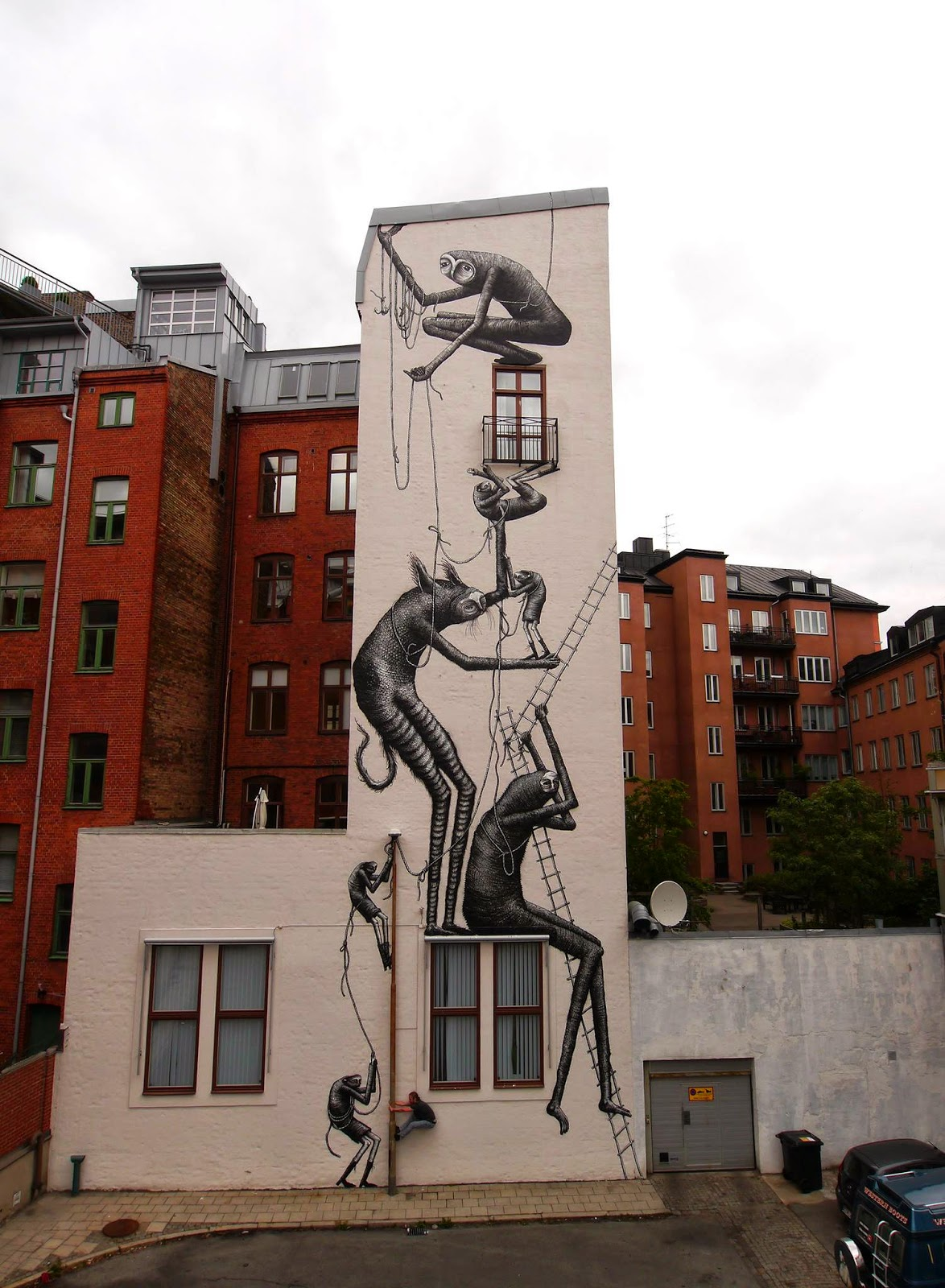 Phlegm New Mural For ArtScape – Malmö, Sweden