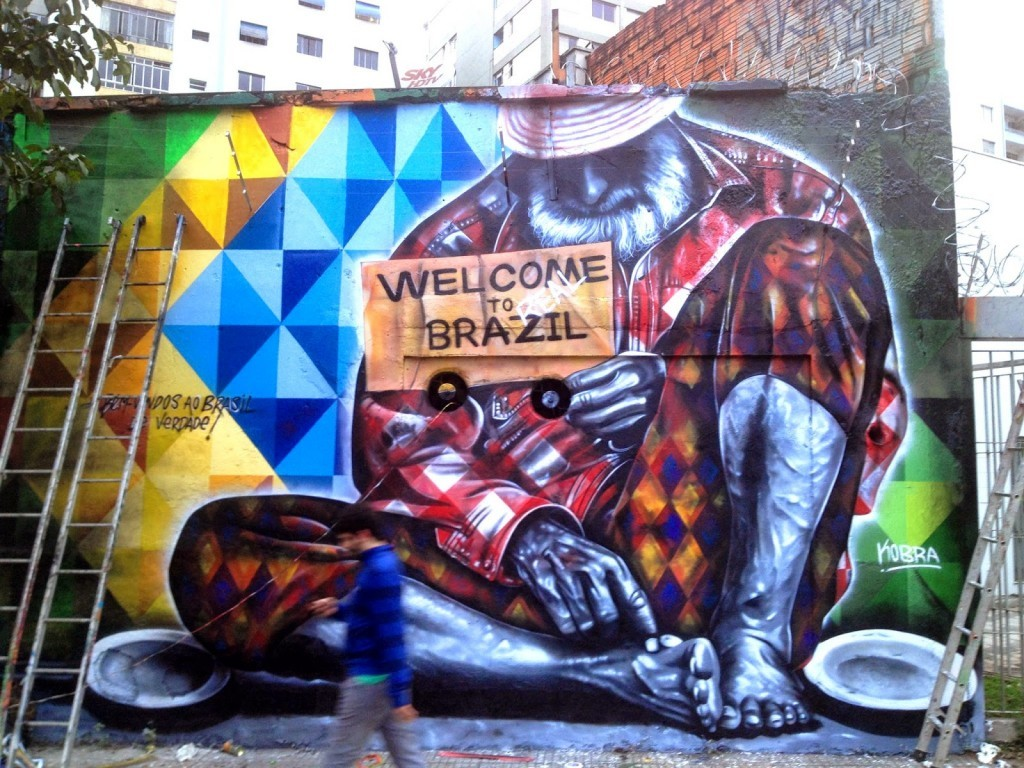 "Eduardo Kobra ""Welcome To Real Brazil"" New Mural – Sao Paulo, Brazil"