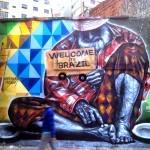 "Eduardo Kobra ""Welcome To Real Brazil"" New Mural – Sao Paulo, Brazil"