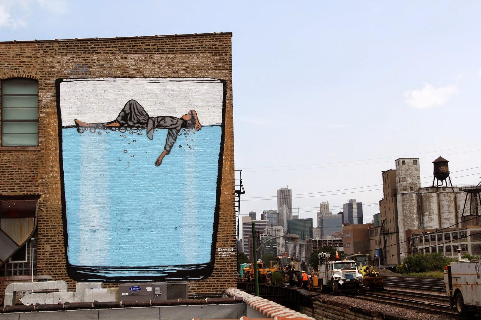 Icy sot new mural chicago usa streetartnews for Chicago mural artist