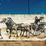 Pixel Pancho and Bosoletti collaborate on a new mural in Armstrong, Argentina