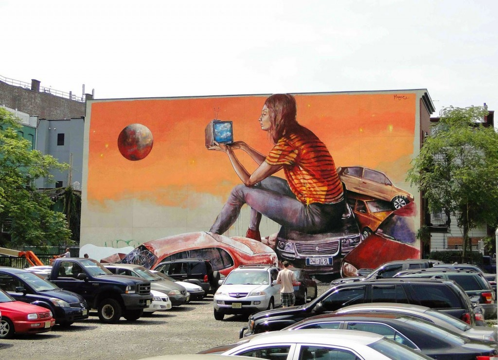 "Fintan Magee ""Remembering Clouds"" New Mural – Jersey City, USA"