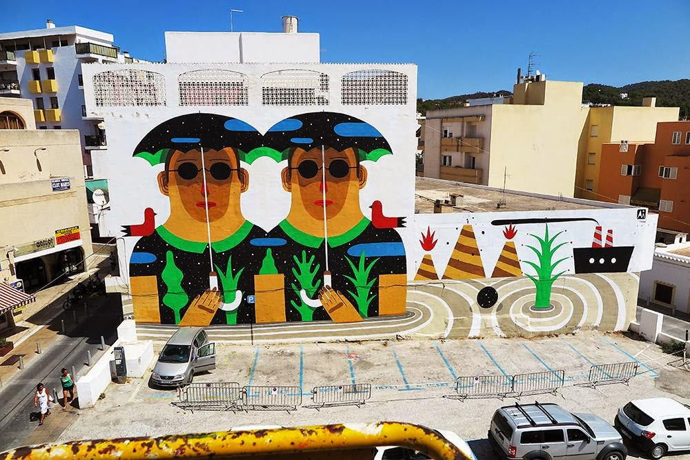 Agostino Iacurci New Mural For Bloop Festival – Ibiza, Spain
