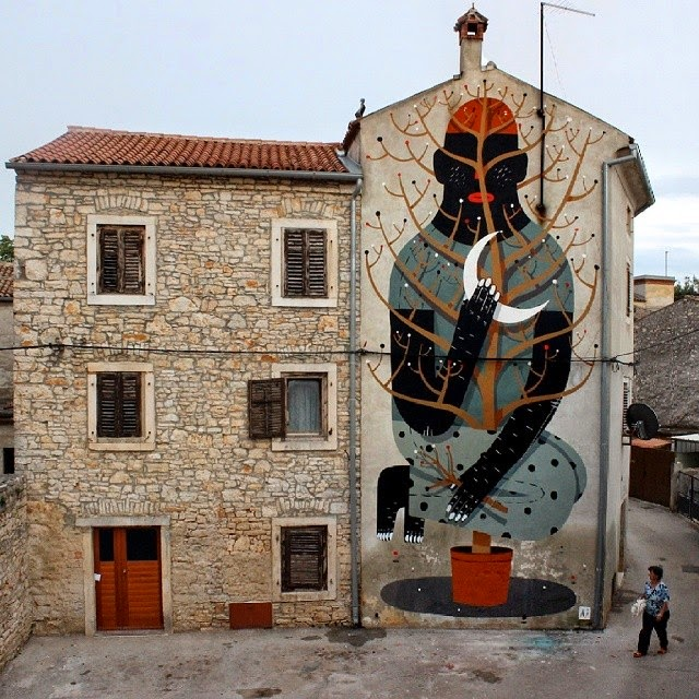 "Agostino Iacurci ""Chameleon"" New Mural – Vodnjan, Croatia"