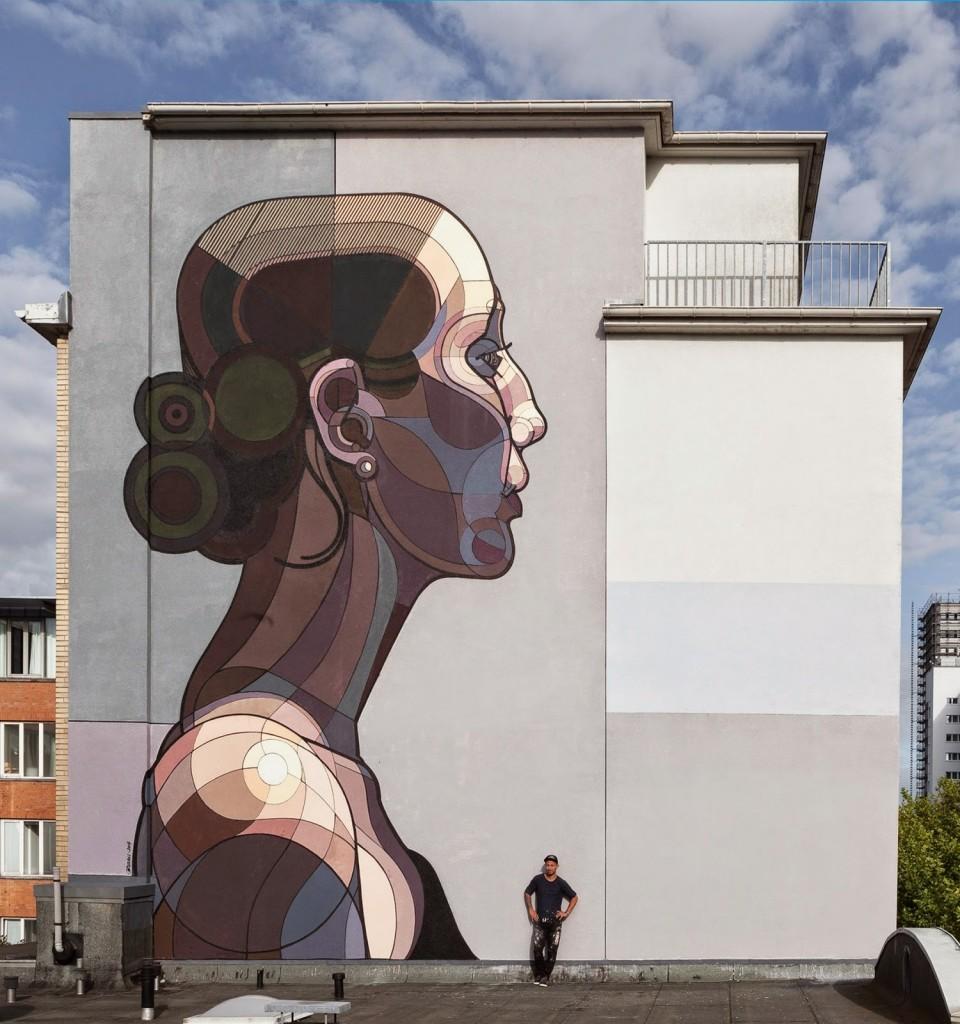 "Ata Bozaci paints ""Beautiful Facebook"" for Stamp Festival – Hamburg, Germany"