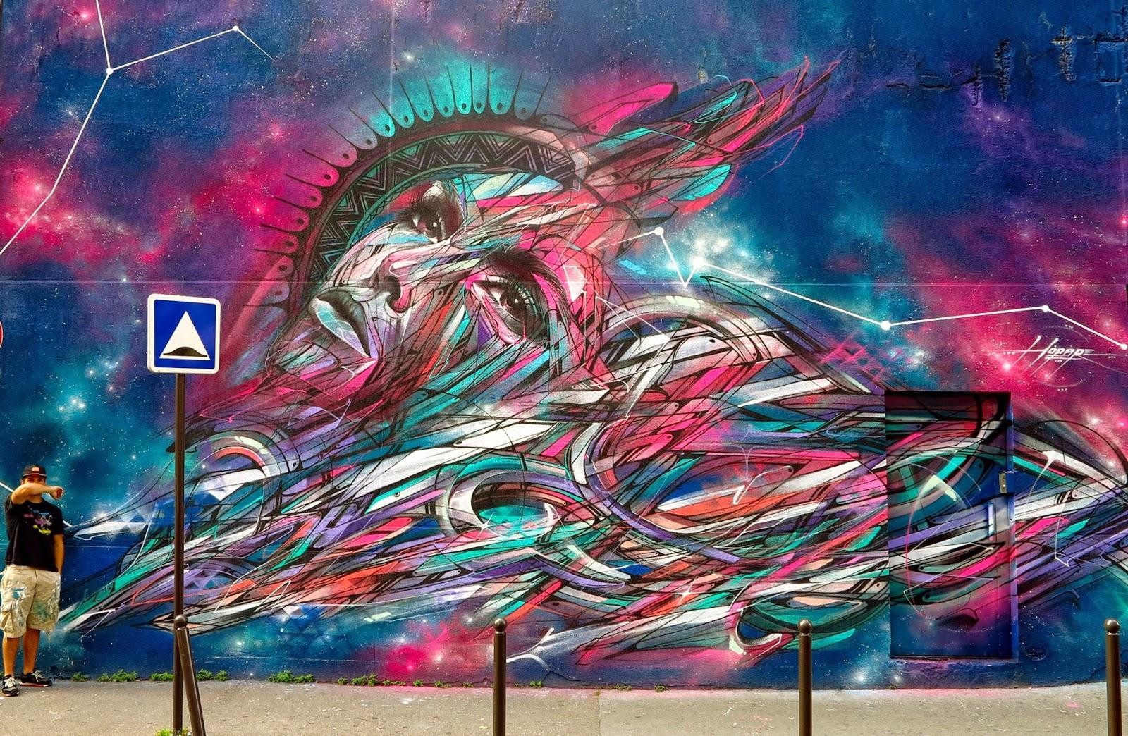 Hopare New Mural - Paris 20th, France