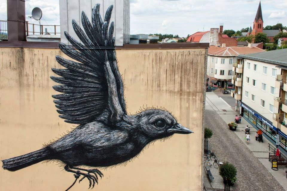 ROA New Mural – Nässjö, Sweden