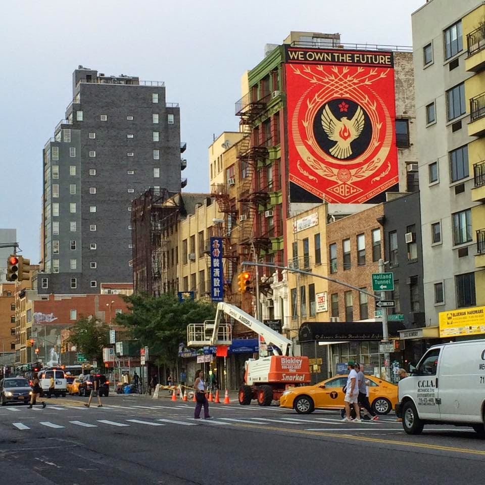 "Shepard Fairey ""We Own The Future"" New Mural For The Lisa Project – New York City, USA"