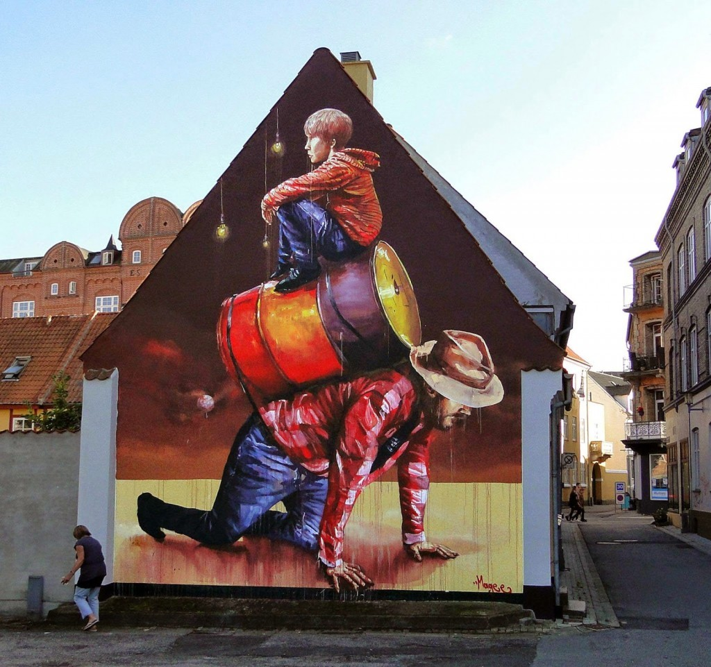 "Fintan Magee ""The Pyramid"" New Mural For We Aart – Aalborg, Denmark"