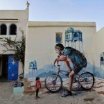 "Fintan Magee ""Smoke Break"" New Mural – Djerba, Tunisia"
