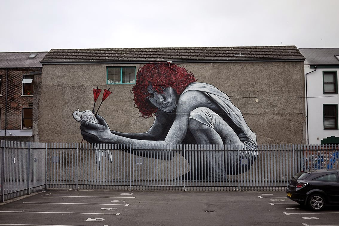 Mto the son of protagoras new mural in belfast ireland for Murals belfast