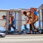 "Fintan Magee paints ""The Migration"", a new mural in Perth, Australia"
