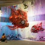 "Bordalo II unveils ""Dirty Aquarium"", a new installation in Lisbon, Portugal"