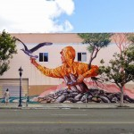 "Fintan Magee paints ""Hunger"", a new mural in San Diego, USA"