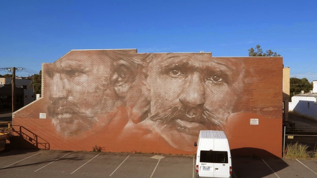 Guido Van Helten creates a new mural in Perth, Australia