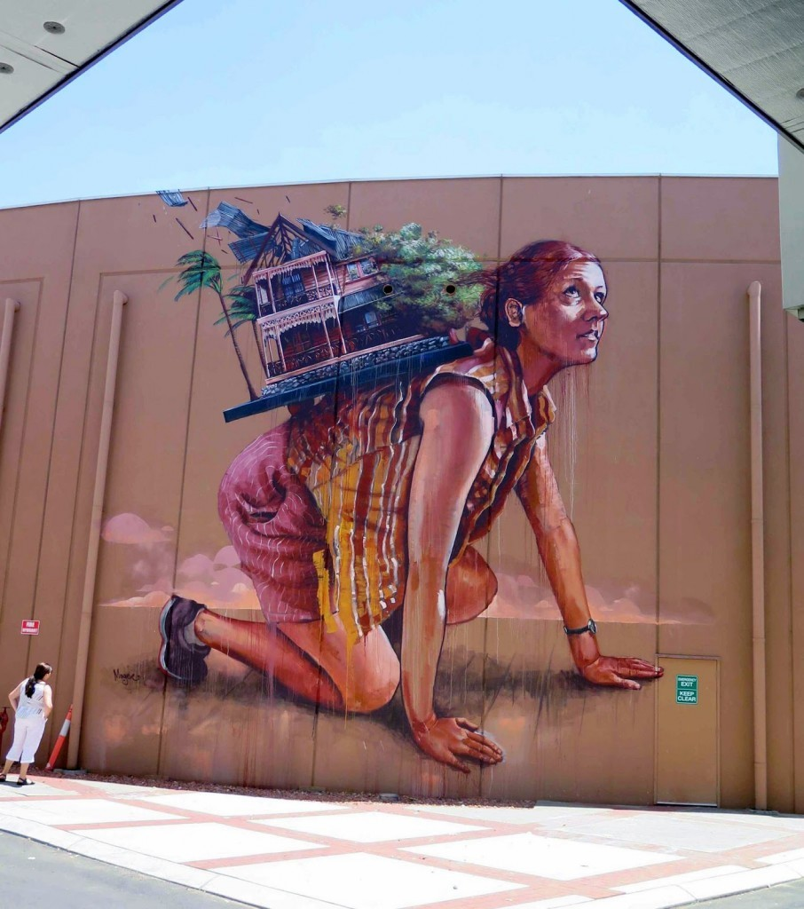 "Fintan Magee creates ""The Storm"", a new mural in Bunbury, Australia"