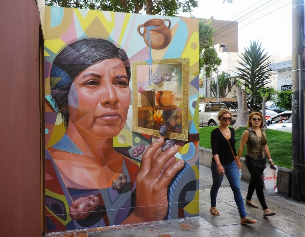 "El Decertor unveils ""Illusion"", a new street piece in Miralores, Lima"