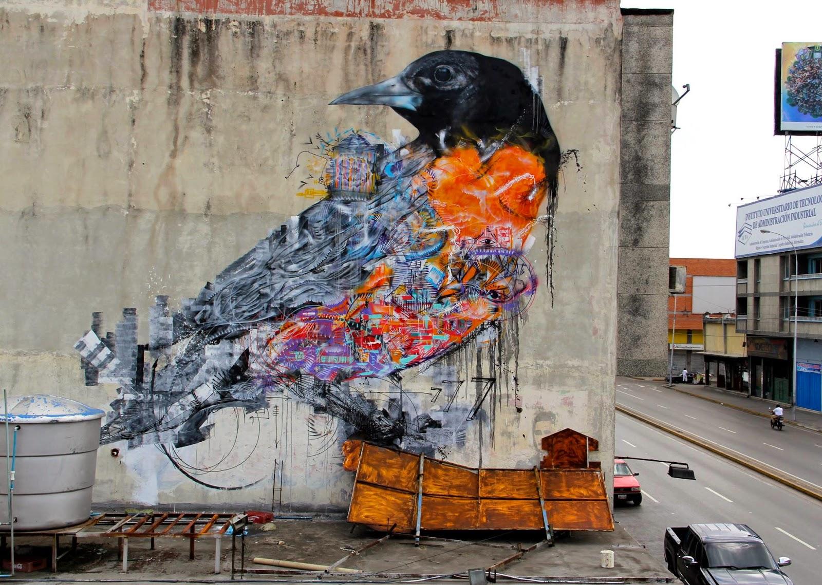 L7m Unveils A New Street Art Mural In Maracay Venezuela