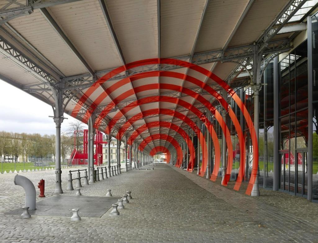 Felice Varini unveils a series of new pieces in Paris, France