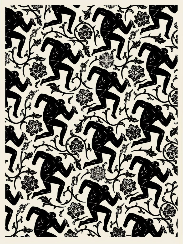 "Shepard Fairey x Cleon Peterson ""Pattern Of Corruption"" Limited Edition Print Release"