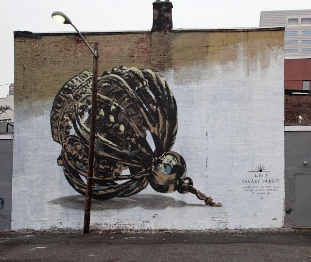 LNY New Mural For Savage Habbit – Jersey City, USA