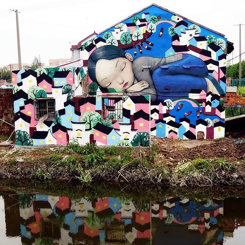 Seth GlobePainter unveils a new series of pieces in China