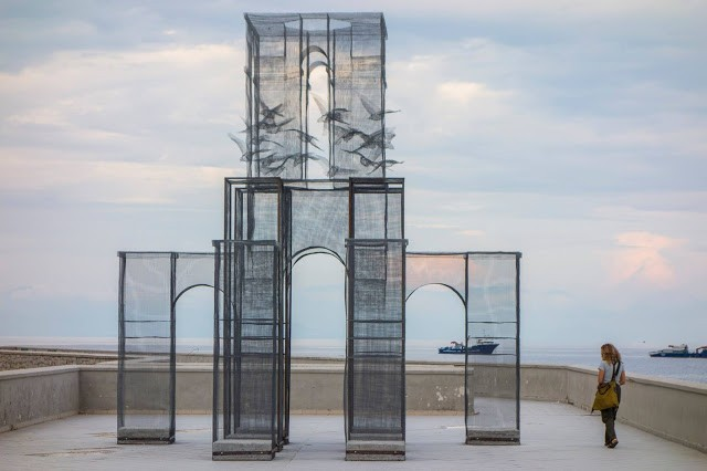 """Incipit"" a new installation by Edoardo Tresoldi in Marina Di Camerota, Italy"