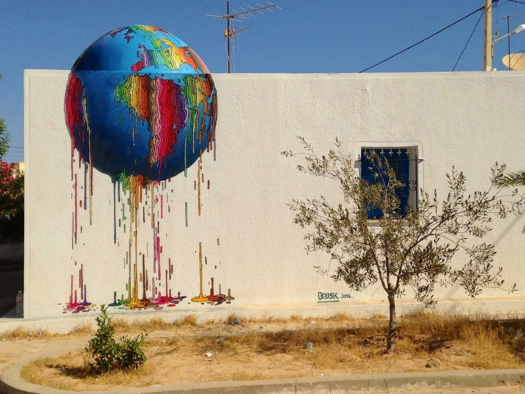 Brusk New Mural – Djerba, Tunisia (Part II)