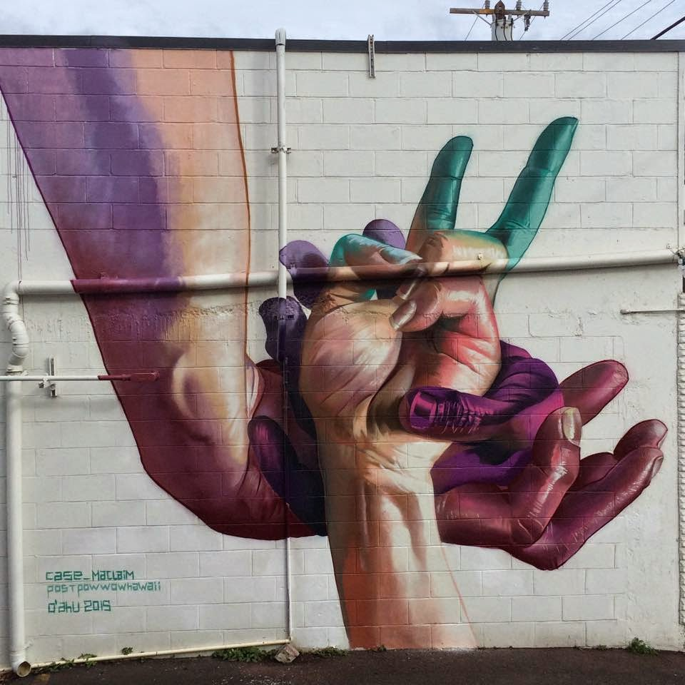 Case Ma'Claim paints a new series of pieces in Hawaii