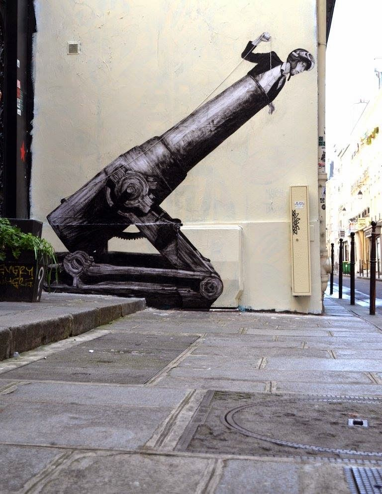 "Levalet creates ""Faster"", a new street piece in Paris, France"